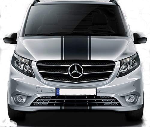 JHS Graphics Mercedes Vito Bonnet Racing Stripes - Vinilo gráfico.: Amazon.es: Coche y moto
