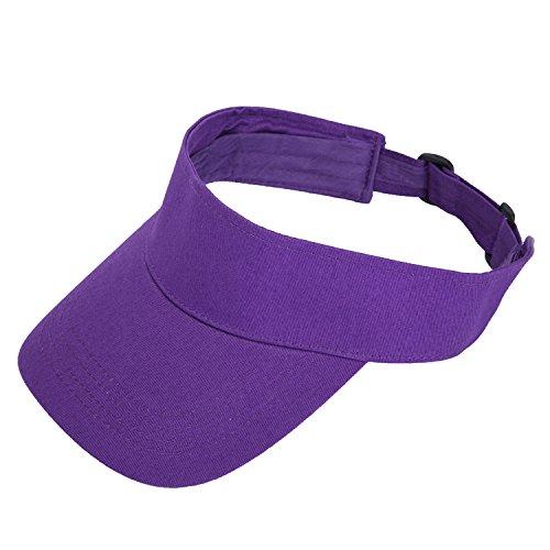 TARTINY Unisex Premium Visor Cap - Lightweight & Comfortable Sun Protector Hat - Ideal For Sports & Outdoor Activities - Stylish & Elegant Design For Everyone(Purple)