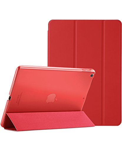 ProCase iPad 9.7 Case 2018 iPad 6th Generation Case / 2017 iPad 5th Generation Case - Ultra Slim Lightweight Stand Case with Translucent Frosted Back Smart Cover for Apple iPad - Case Apple Ipad Red