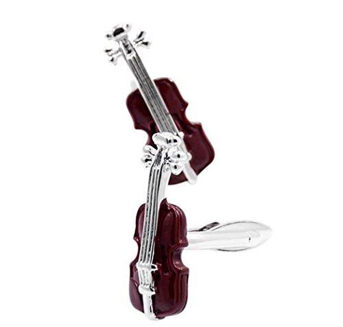 Fengteng Instrument de Violoncelle Brun Boutons de Manchette