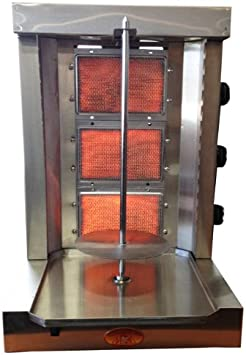 Tacos Al Pastor Machine- Shawarma Machine- Gyro Machine- Doner Kebab Machine-3 Burner- Propane Gas- Meat Capacity 25lbs