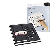 Moleskine - Set de Escritura Inteligente, Cuaderno Digital y Bolígrafo + Ellipse Smart Bolígrafo, Cuaderno con Tapa Dura Negra Apto para Uso con Bolígrafo Moleskine+, Hojas Rayadas, Color Negro