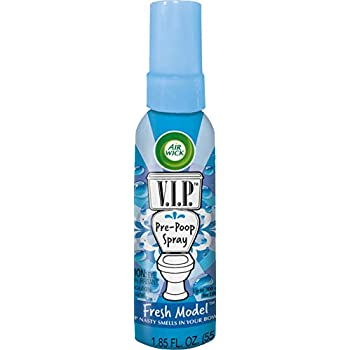 Air Wick VIP Pre-Poop Toilet Spray, Up to 100 uses, Contains Essential  Oils, Fresh Model Scent,