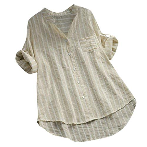 Olds 98 Top - COPPEN Women Button Blouse Plus Size Stand Collar Long Sleeve Casual Cotton Loose Soft Tunic Tops T Shirt