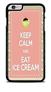 Keep Calm and Eat Ice Cream Black Hardshell Case for iPhone 6+ (5.5)