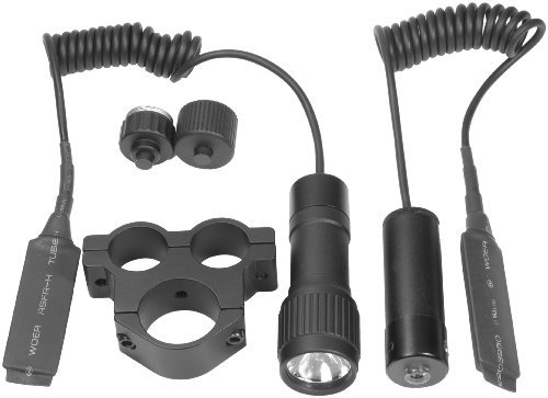 BARSKA Tactical Red Laser Sight System with Flashlight and Mount AU11005