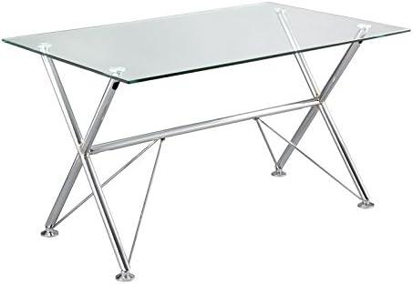 Mesa escritorio cristal: Amazon.es: Hogar