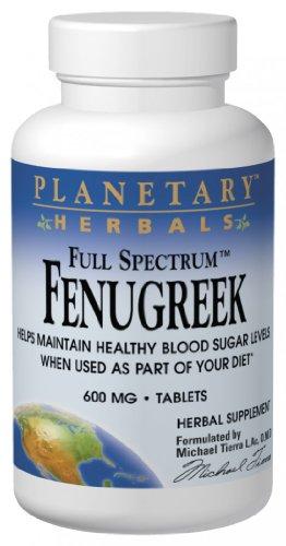 Fenugreek Blood Sugar - Planetary Herbals Fenugreek Full Spectrum 600mg, Supports Healthy Blood Sugar Levels,120 Tablets