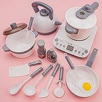 CHOUREN Big Size Children Simulation Kitchen Toys Utensils Cookware Pot Pan Pretend Play Set Toy For Children (Color…