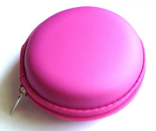 Pink Carrying Case for Bose SIE2i IE2 MIE2i MIE2 In-Ear Headphones Mobile Hands-Free Headset Wired Bag Holder Pouch Hold Box Pocket Size Hard Hold Protection Protect Save