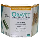 Oravet Dental Hygiene Chews 0-10lbs – 30 chews