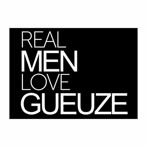 teeburon-real-men-love-gueuze-pack-of-4-stickers