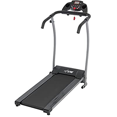 Akonza 1200W Folding Electric Treadmill Power Motorized Running Jogging Machine Black