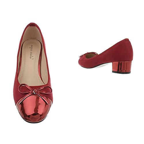 Blocco Rot 946 Tacco Ital Scarpe design Donna A Da Ballerine Classiche PvO0qvpw