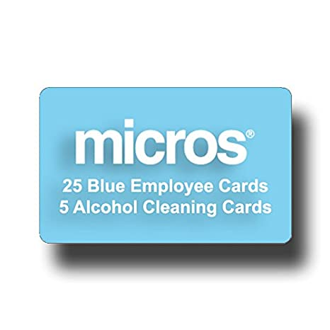 25 Micros Server Swipe Cards - (25 RED Cards) - FREE USPS Priority Mail Same Day Shipping POS-Depot.com POSD-MIC-RED-0025