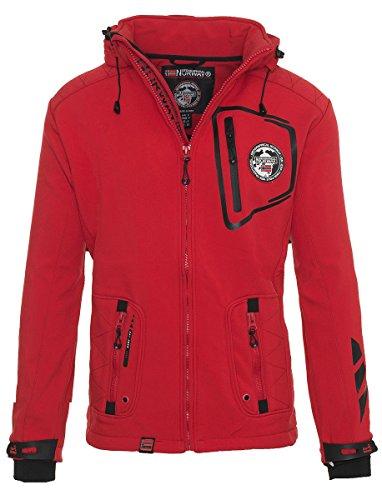Impermeable Rojo Hombre Norway Para Softshell Chaqueta Geographical Multifunción De IqwEO8