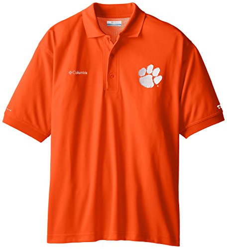 NCAA Clemson Tigers Collegiate Perfect Cast Polo Shirt, Spark Orange, Large