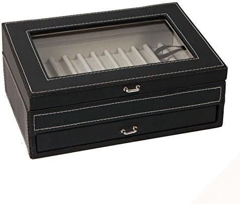Caja Vitrina Guarda Plumas Estilograficas, Boligrafos, para 24 Unidades, Color Negro: Amazon.es: Oficina y papelería