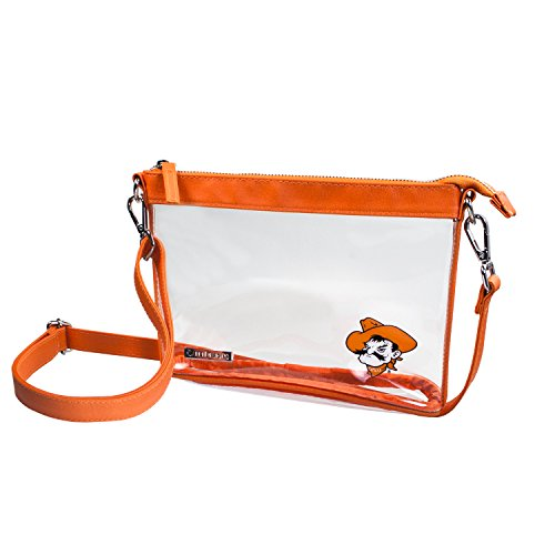Capri Designs Clear Small Crossbody NFL Stadium Approved - Oklahoma State University (Oklahoma State Pant)