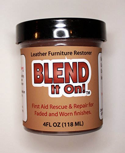 Furniture Blend It On Leather Refinish And Restorer 4 Oz Jar (Leather Repair)  (Leather Restore) (Vinyl Repair) (Dark Brown)