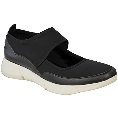 Black Shoes Sneakers Faux Trainers Womens Thirsty Runner Gym Fashion Fitness Leather Size Sports Fashion tPzq1