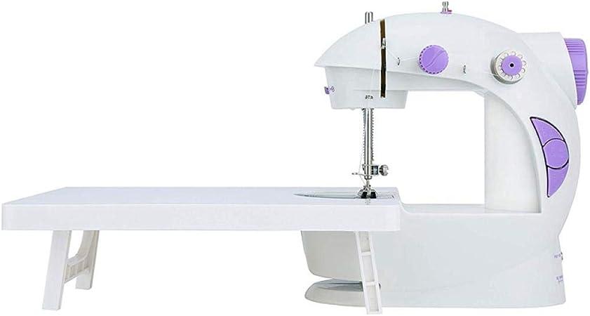 Pequeña máquina de coser portátil Mini máquina de bordar para el hogar con mesa de extensión Para herramientas de coser en el hogar para automóviles 20 * 10 * 21 cm-Blanco: Amazon.es: Hogar