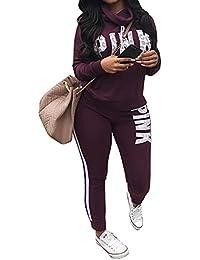 Women Jumpsuit Cowl Neck Sweatshirt and Long Pants...