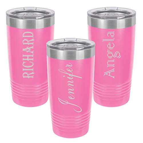 Personalized Tumbler 20oz with Lid | 5 Different