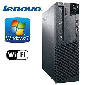 Lenovo ThinkCentre M92p Business Desktop Tower PC (Intel Core i5-3470, 3.2Ghz CPU, 4GB RAM, 500GB HDD, WIFI, DVD-RW, USB 3.0) Windows 7 Pro – 32 Bit (Certified Refurbished)