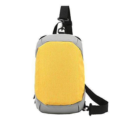 La Pechera De Yy.f Hombres Nuevos Creativo Tela Oxford Mochila De Manera Diagonal Del Paquete De Los Hombres Casuales Kits Anti-robo Multicolor Yellow