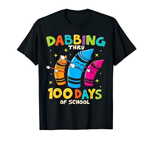 100 Day Of School Shirt Ideas (Dabbing Crayons Kids 100 Days School Shirt Boys Girls)