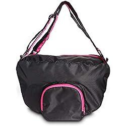 LTLHXM Pet Dog Cat Carrier Sling Hands-Free Shoulder Travel Bag, Outdoor Reversible Pouch Mesh Shoulder Carry Bag Tote Handbag Carrier,A