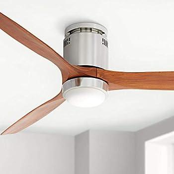 52 Quot Revue Modern Hugger Low Profile Ceiling Fan With Light
