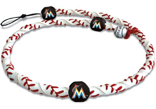 - MLB Miami Marlins Classic Frozen Rope Baseball Necklace