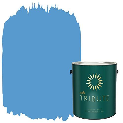 KILZ TRIBUTE Interior Matte Paint and Primer in One, 1 Gallon, Coast Drive (TB-46)