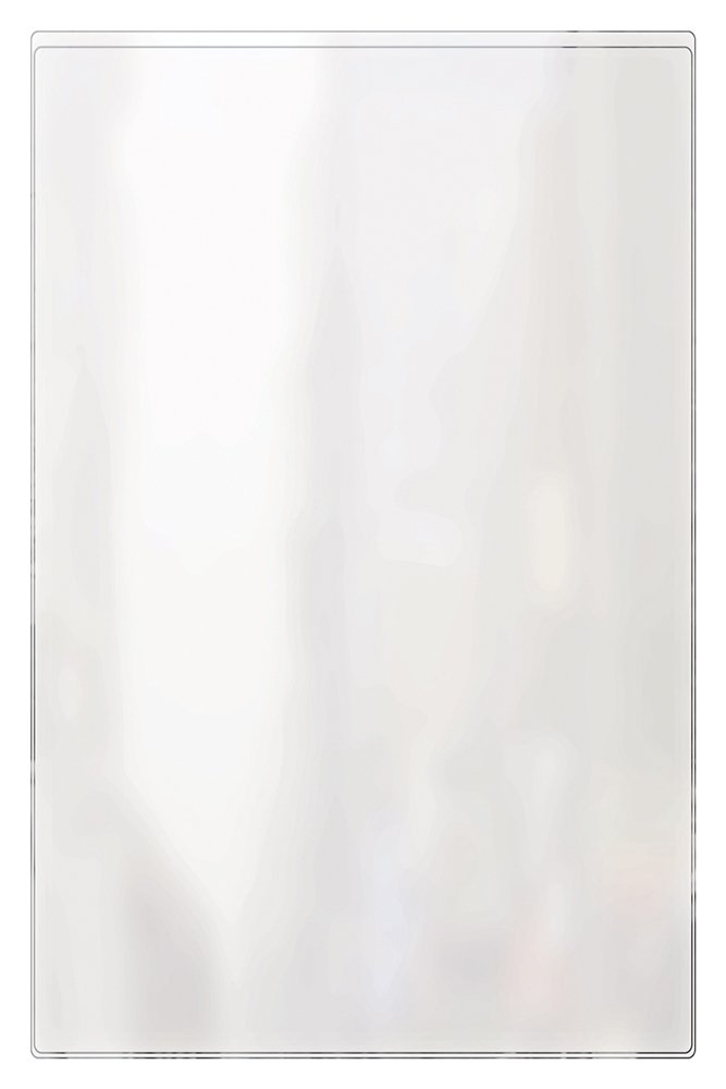Risch 100 11X17 12GA Gauge Heat Sealed Vinyl Menu Cover Single Pocket 2 View, All Clear, 11'' x 17'' (Pack of 24)