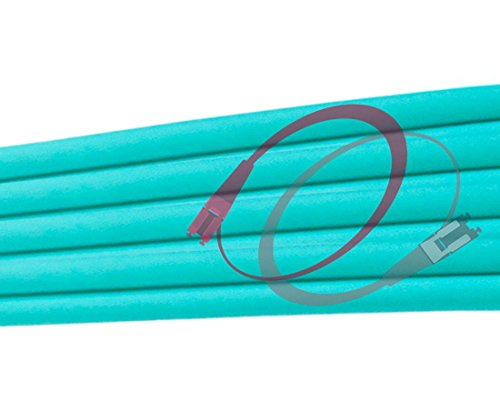 FiberCablesDirect - 100M OM3 LC ST Fiber Patch Cable   10Gb Duplex 50/125 LC to ST Multimode Jumper 100 Meter (328ft)   Length Options: 0.5M-300M   ofnr mmf lc-st dx 10gig spf+ lc/st aqua patchcord by FiberCablesDirect (Image #5)