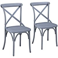 Supernova Dining Room Chairs Set of Two(2) (SWEDISH GREY)