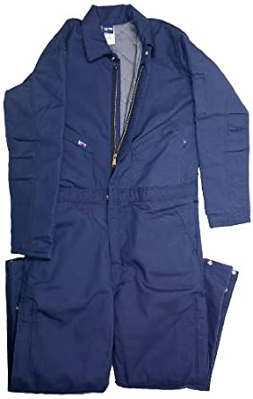 LAPCO CIFRNYDK-3XL RG 12-Ounce Duck Flame Resistant Insulated Coverall, Navy
