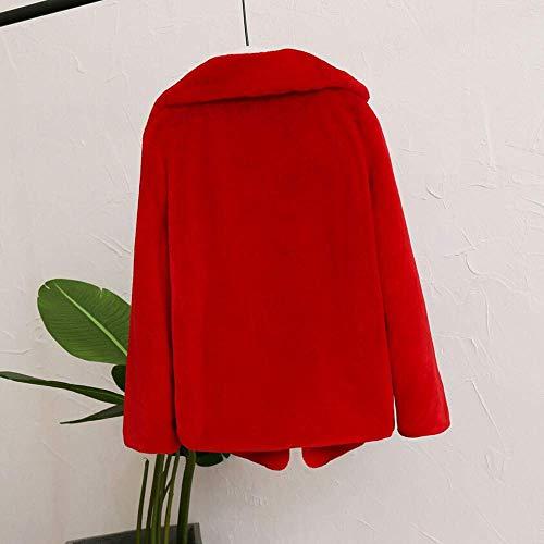 Caliente Azul Abrigo Salvaje Señoras Marrón Para Rot Las Color De Apretado Rojo Mantener La Moda Ocasional Cubierta Mujeres Blusa Sólido Rosa 1paFq