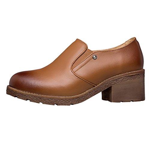 Patent Spectator Pumps (Snowman Lee Women's Oxford Shoes Leather-Mid-heel Hallowmas Dress Pumps 5.5 US)