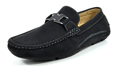 Bruno Marc Men's Ralph-02 Black Driving Loafers Moccasins Shoes – 10 M US