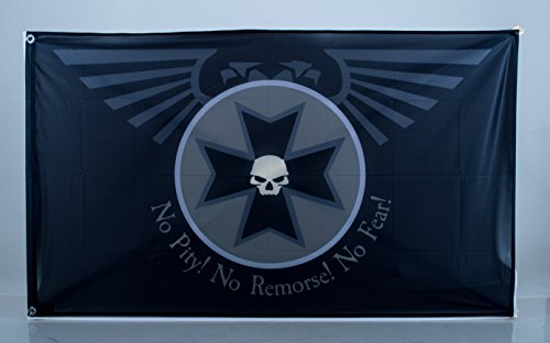 Östberg & Sørensen Flag Company Warhammer Flag | Black Templars Landscape Flag | 3×5 ft/90x150cm | Long Lasting Flag For Sale