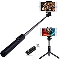 Bluetooth Selfie Stick, ProCIV Selfie Stick Bluetooth Monopod with Foldable Tripod Stand and Remote Control Extendable Aluminum Alloy 360 Rotation Phone Holder for iPhone 6s Plus 7 Plus Samsung s7