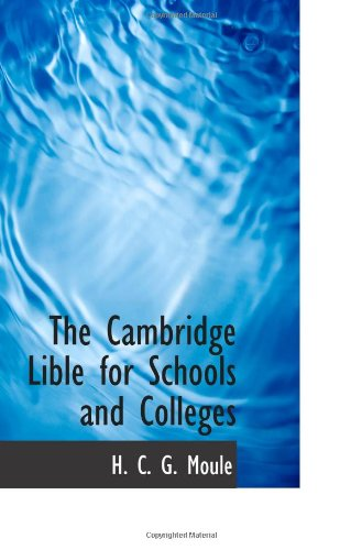 The Cambridge Lible for Schools and Colleges pdf epub