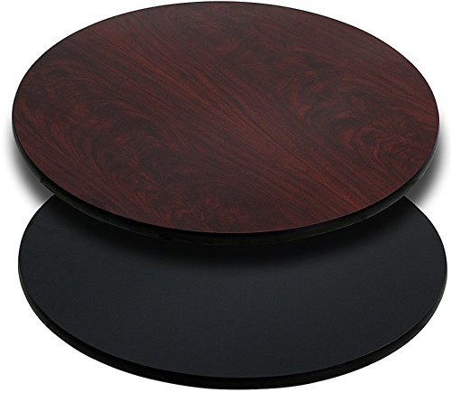 - Flash Furniture 42'' Round Table Top with Black or Mahogany Reversible Laminate Top