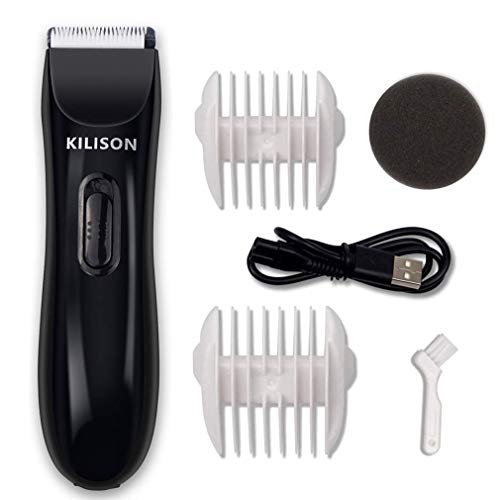 Kilison Hair Clipper, Electric Cordless Hair Trimmer with 2 Guide Combs, Rechargeable Waterproof Hair Cutting Kit for Men Women Boys