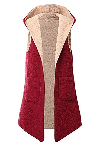 Cappotto Maglione Jacket Outerwear Gilet Autunno Termica Cappuccio Senza Donne Cime Jungen Coat Inverno Maniche Con Rosso Giacca Giacche Soprabito Hoodie Casual Tops Moda R8waxCq
