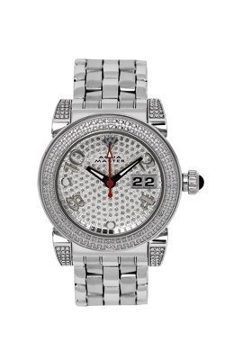 Aqua Master Ladies' Round 16-Diamond Watch by Aqua Master