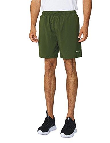 Baleaf Men's Woven 5″ Running Workout Shorts Zipper Pockets – Sports Center Store